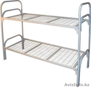 Кровати металлические двухьярусная, кровати для рабочих, кровати оптом - Изображение #2, Объявление #1352915