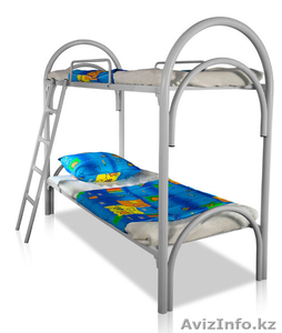 Кровати металлические двухьярусная, кровати для рабочих, кровати оптом - Изображение #1, Объявление #1352915