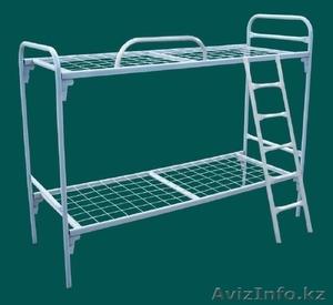 Кровати железные одноярусные для санаториев, кровати металлические с ДСП спинкой - Изображение #4, Объявление #1436422