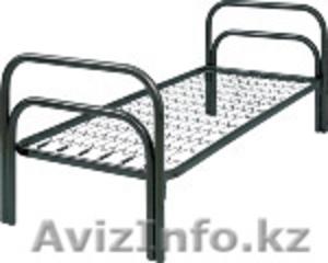 Кровати железные одноярусные для санаториев, кровати металлические с ДСП спинкой - Изображение #3, Объявление #1436422
